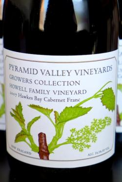 "Hawke's Bay Cabernet Franc ""Howell Family Vineyard--Growers Collection"", Pyramid Valley 2007"