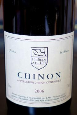 Chinon Rouge, Phlippe Alliet 2006