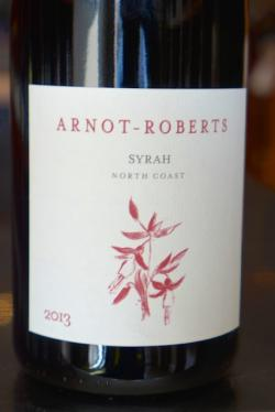 North Coast Syrah, Arnot-Roberts 2013