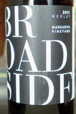 "Paso Robles Merlot ""Margarita Vineyard"", Broadside Wine 2011"
