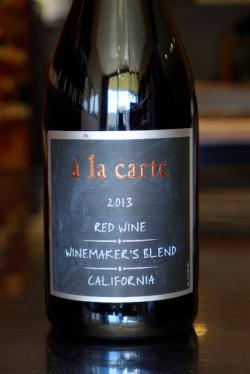 "California Red Wine ""Winemaker's Blend,"" a la carte 2013"