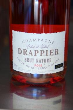 Champage Brut Rose Nature Pinot Noir Zero Dosage, Drappier NV