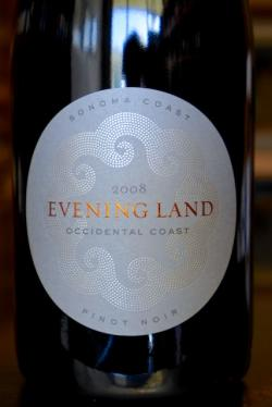 "Sonoma Coast Pinot Noir ""Occidental Coast"", Evening Land Vineyards 2008"