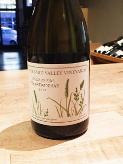 "Canterbury (New Zealand) Chardonnay ""Field of Fire,"" Pyramid Valley Vineyards 2012"