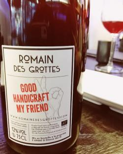 "Vin de France Red, ""Good Handicraft My Friend"", Domaine des Grottes 2016"