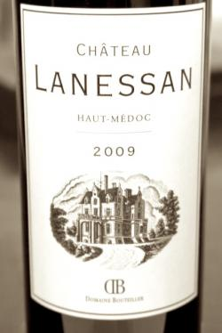 Haut medoc chateau lanessan 2009 in red bordeaux for Chateau lanessan