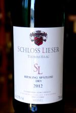 Mosel Riesling Spatlese Dry, Schloss Lieser Thomas Haag 2012