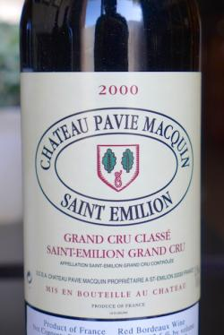 St.-Emilion Grand Cru Classe, Chateau Pavie-Macquin 2000