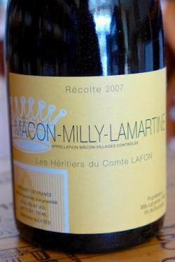 Macon Milly-Lamartine, Heretiers du Comes Lafon 2007
