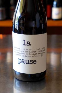 "Vin de France Gamay ""La Pause"", Laurent Saillard 2015"