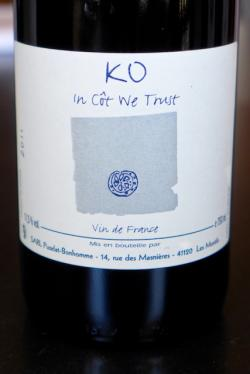 "Vin de France ""KO In Cot We Trust"", Puzelat-Bonhommie 2011"