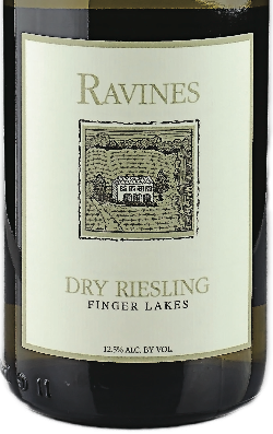 Finger Lakes Dry Riesling, Ravines 2012