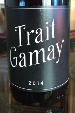 "Vin de France Red ""Trait Gamay"", Remi Sedes 2014"