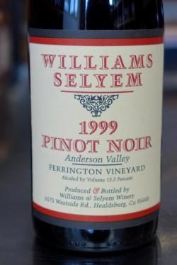 "Anderson Valley Pinot Noir ""Ferrington Vineyard"", Williams Selyem 1999"